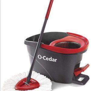 O-Cedar EasyWring Microfiber Spin Mop, Bucket Floo